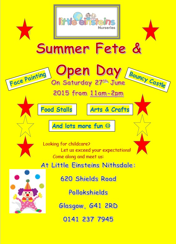 Open Day 27th June 2015